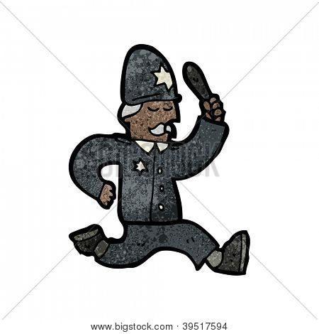 cartoon british policeman
