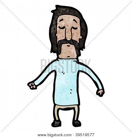 cartoon mustache man