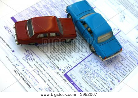 Filling Of Documents At Road And Transport Incident