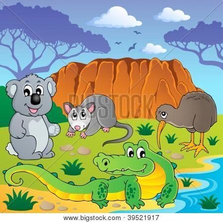 Australian animals theme 3 - vector illustration.