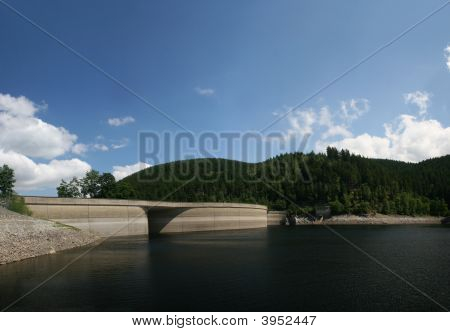 Dam Of The Reservoir Okersee, Harz, Germany