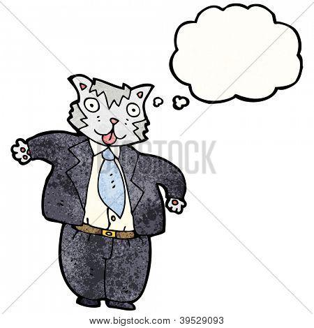 empresario de Gato gordo de dibujos animados