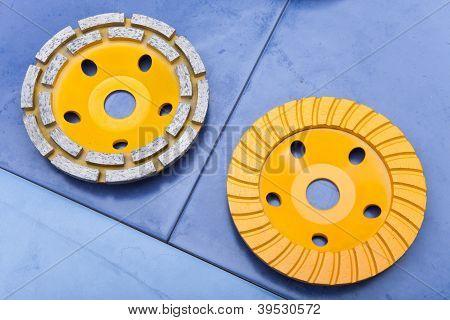 Diamond disks for a concrete abrasion