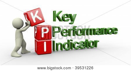 3D Person And Kpi Cube