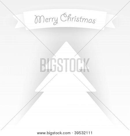 Paper Vector Christmas Tree Applique.