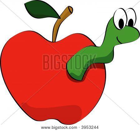 Stock vector : Apple Worm