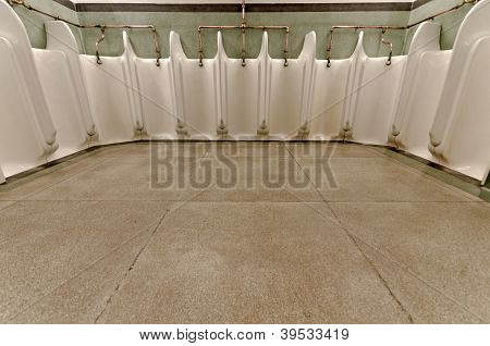 Old Fashioned Men's Urinals.