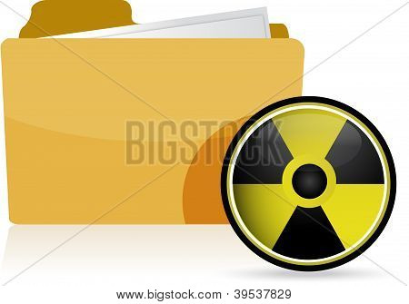 Folder And Radioactive Symbol