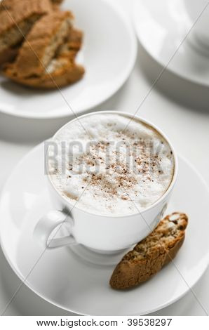 Coffee Cup With Cantuccini