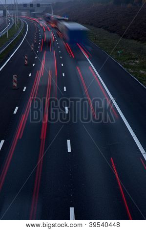 motorway at dusk