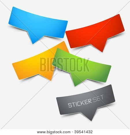 Colourful sticker set vector illustration.
