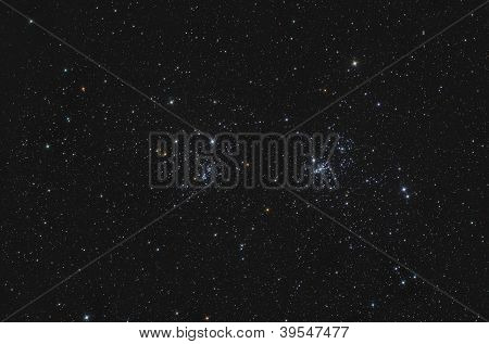 Ngc 869 And Ngc 884 Double Open Cluster In Perseus