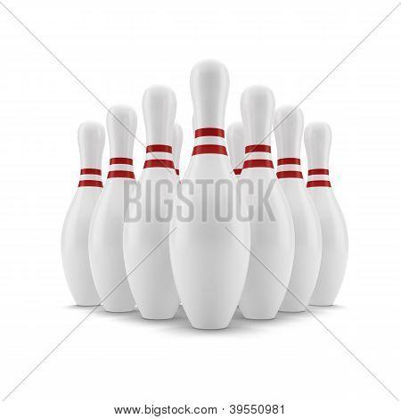 Bowling. Skittles