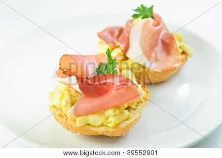 Ham And Eggs Sandwich
