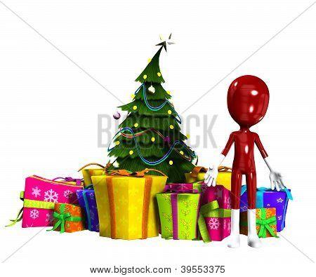 leere Abbildung mit Weihnachtsbaum