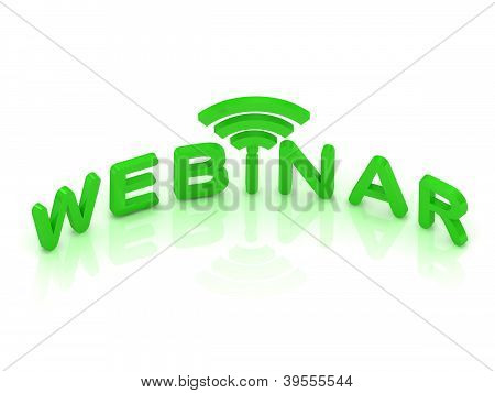 Webinar Signal Sign With Green Letters