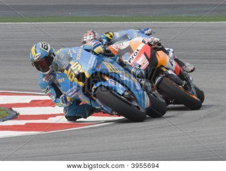 Italian Loris Capirossi Of Rizla Suzuki Motogpat 2008 Polini Malaysian Motorcycle Grand Prix Sepang,