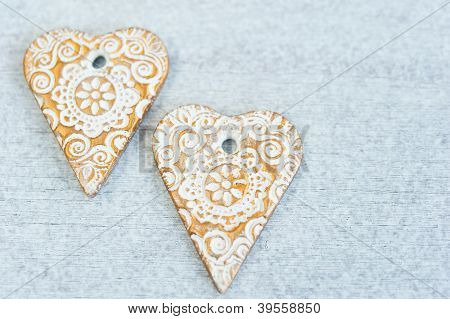 Gingerbread Hearts
