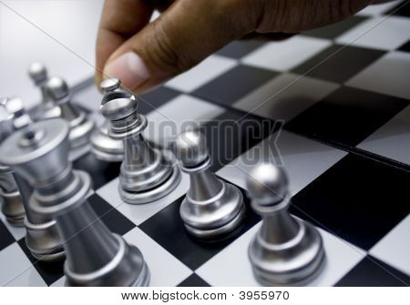 Hand Move Chess Pawn