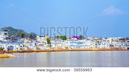 Lake View To The Ghats Of Pushkar