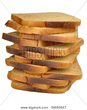 Stack Of Toast Rye Bread