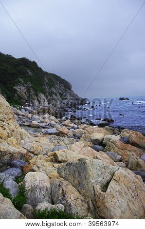 seaside with rocks at china