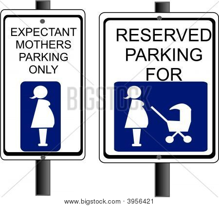 Expectant Mother Parking Sign