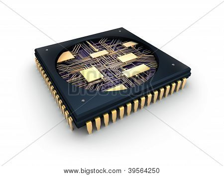CPU Comuter chip, inside view