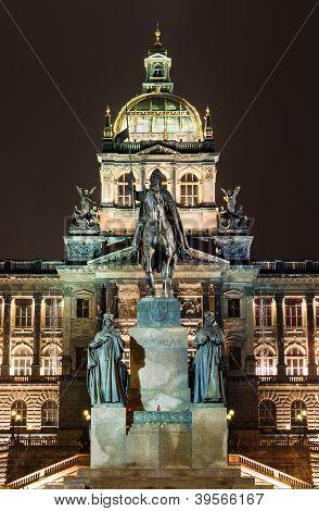Wenceslav Square And National Museum, Prague