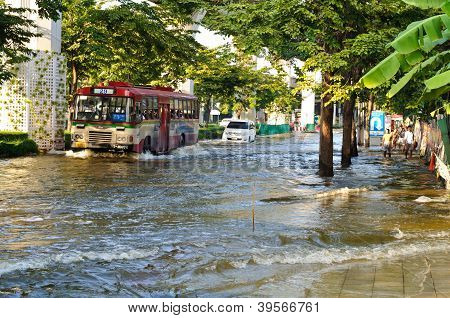 Severe Flood In Bangkok, Thailand