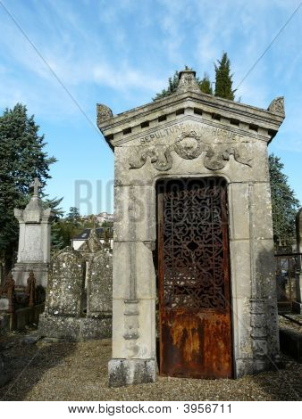 Family Crypt In A Graveyard