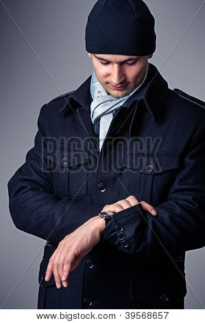 Fashion Portrait Of Sexy Handsome Man