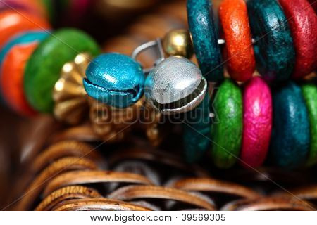 Close Up View Of Colorful India Bracelet.