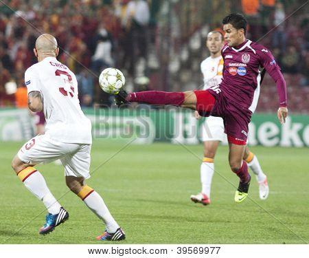CLUJ-NAPOCA, ROMANIA - NOVEMBER 7:  Rafael Bastos in UEFA Champions League match between CFR 1907 Cluj vs Galatasaray,  on 7 Nov., 2012 in Cluj-Napoca, Romania
