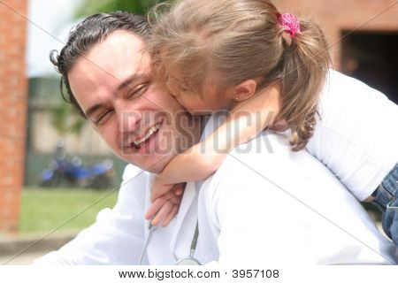 Little Girl And Her Doctor