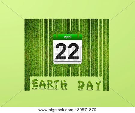 Barcode Earth Day.