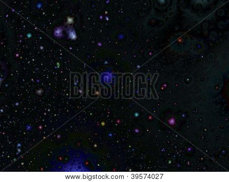 Space Stars Seasonal Background