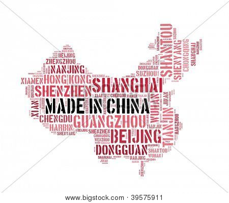 Made in China in word collage