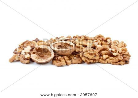 Walnuts Kernels And Nutshells