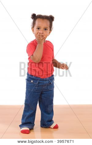 African Baby Throwing A Kiss