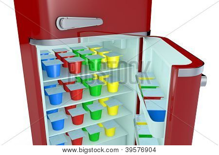 Fridge And Yogurt