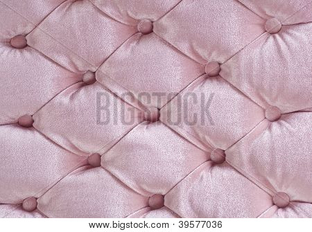 Light Pink Quilted Fabric Texture On Armchair
