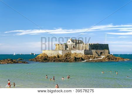 Fort National In Saint-malo