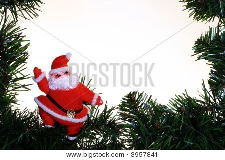 Santa With Border