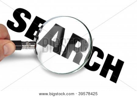 Magnifying Glass Zooming To Search