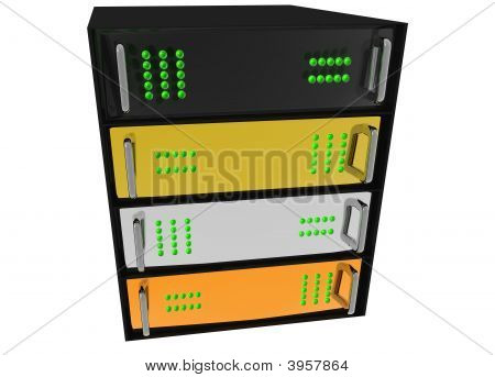 Gold Silver Bronze Glass Diamond Server Rack Hosting