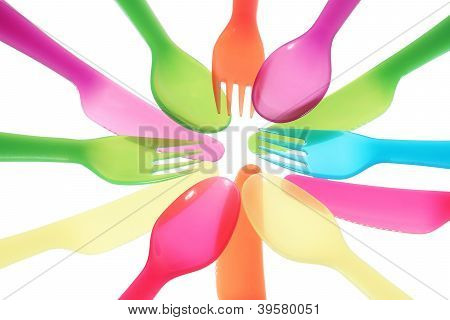 Multicolored Setup Background Round