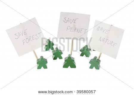 Save Our Nature And Planet Green Meeting