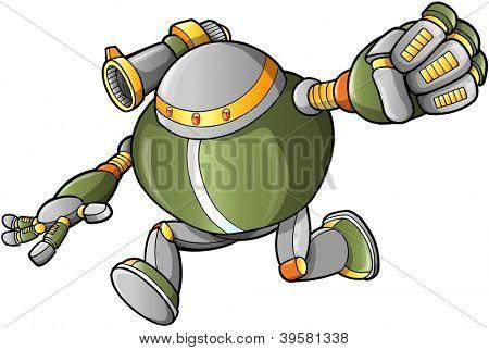 Massive Warrior Robot Cyborg Soldier Vector