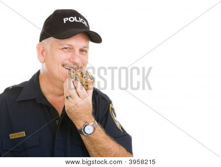 Policeman With Donut